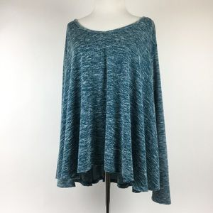 Free People Blue Heather Knit Tunic Top
